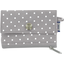 zipper pouch card purse light grey spots