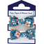 Small elastic bows fleuri nude ardoise - PPMC