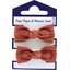 Gomas de pelo con lazos gasa lurex terracotta - PPMC