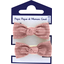 Small elastic bows dusty pink lurex gauze - PPMC