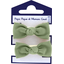Small elastic bows sage green gauze - PPMC
