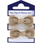 Small elastic bows copper linen - PPMC