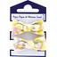Mousse petit noeud mimosa jaune rose - PPMC