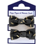 Small elastic bows golden straw