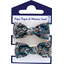 Small elastic bows paquerette marine