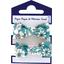 Small elastic bows celadon violette