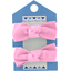 Small elastic bows pink - light cotton canvas - PPMC