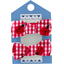 Small elastic bows ladybird gingham - PPMC