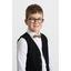 Kid bow-tie gold linen