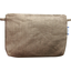 Coton clutch bag gold linen