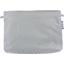 Pochette coton  pois argent gris - PPMC