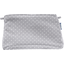 Coton clutch bag light grey spots - PPMC