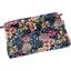 Mini pochette coton  dahlia rose marine - PPMC