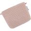 Mini pochette coton rayures cuivrées - PPMC