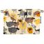 Petite pochette enveloppe mouton jaune - PPMC