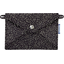 Little envelope clutch noir pailleté - PPMC
