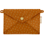 Little envelope clutch caramel golden straw - PPMC