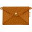 Petite pochette enveloppe paille dorée caramel - PPMC