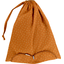 Lingerie bag caramel golden straw - PPMC