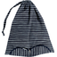 Lingerie bag striped silver dark blue - PPMC