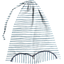 Lingerie bag striped blue gray glitter - PPMC