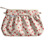 Pleated clutch bag red flower - PPMC