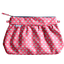 Pleated clutch bag small flowers pink blusher - PPMC