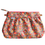 Pleated clutch bag peach flower - PPMC