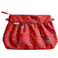 Pleated clutch bag red folk - PPMC