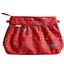 Pleated clutch bag red folk - PPMC