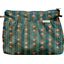 Pleated clutch bag eventail or vert
