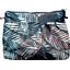 Pochette plissée feuillage marine - PPMC