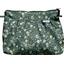 Pleated clutch bag fleuri kaki - PPMC