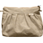 Pleated clutch bag golden linen - PPMC