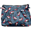 Pleated clutch bag flowered night