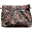 Pleated clutch bag ochre bird