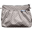 Pleated clutch bag light grey spots - PPMC