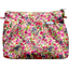 Pleated clutch bag purple meadow
