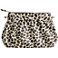 Pleated clutch bag leopard print