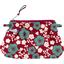 Mini pochette plissée cerisier rubis jade - PPMC