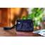 Mini Pleated clutch bag etoile or marine