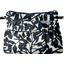 Mini Pleated clutch bag black linen foliage  - PPMC