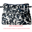Mini Pleated clutch bag chinese ink foliage  - PPMC