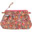 Mini pochette plissée floral pêche - PPMC