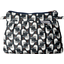 Mini Pleated clutch bag black-headed gulls