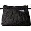 Mini Pleated clutch bag noir pailleté - PPMC