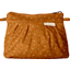 Mini Pleated clutch bag caramel golden straw - PPMC