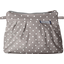 Mini Pleated clutch bag light grey spots - PPMC