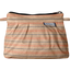 Mini Pleated clutch bag bronze copper stripe  - PPMC