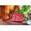 Mini Pleated clutch bag ladybird gingham